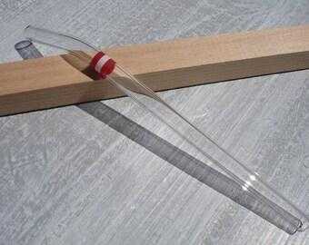 """Glass drinking straw """"Austria"""", single, 10 x 200 mm, curved"""