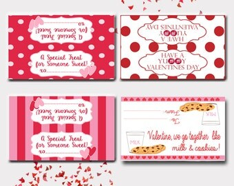 Valentines Day Treat Toppers-Set of 4-Instant Download