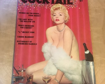 1958 Cocktail Magazine Pinup Girlie Nudie Publication Blonde on Cover