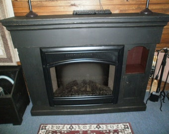 5 piece faux fireplace / with crane