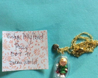 Vintage Polly Pocket Doll Necklace Polly Dream World