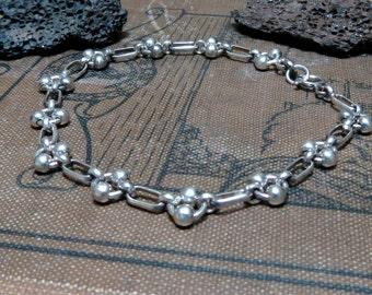 Sterling Silver Link bracelet Layering bracelet