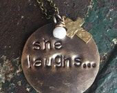 She laughs... Proverbs 31 Necklace