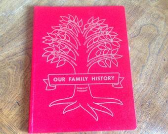 Family History Book Family Tree History Book 1964 Hardcover