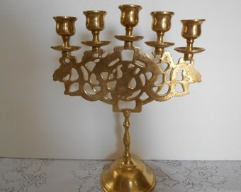 Solid Brass Candelabra