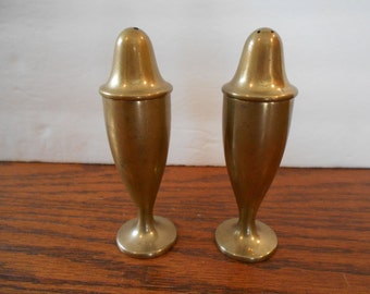 Dirilyte Solid Brass Salt and Pepper Shakers
