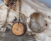 Simple Wood Slice Necklace
