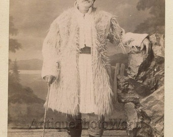 Greece old man in ethnic costume antique photo