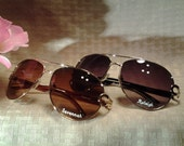 PERSONALIZED SUNGLASSES  for your Bridesmaids, for yourself, or for a special gift! Free Engraving!