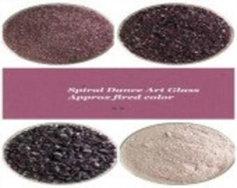 Bullseye COE 90 Deep Plum Transparent Kiln Fusing Glass Frit~ 2oz  Choice  Fusing Supplies