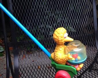 """Big Bird """"corn popper"""" Push Toy"""
