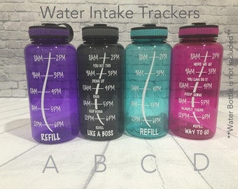 Water Intake Tracker Decal ***DECAL ONLY*** Water bottles are not included
