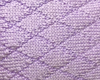 Lavender Hand-knit Baby Blanket