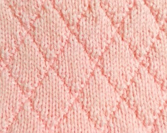 Pink Hand-knit Baby Blanket