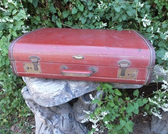 Vintage INDESTRUCTO Luggage, Distressed Suit Case / Gentlemen's Luggage, Vintage Suitcase