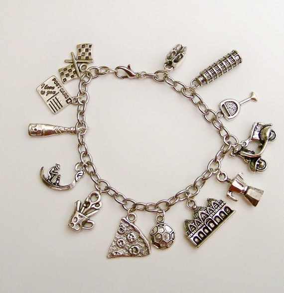 italy themed charm bracelet everything italian italy travel