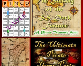 4 Pirate Downloads - Bingo, Treasure Hunt Puzzles and more - for a great Pirate Party!
