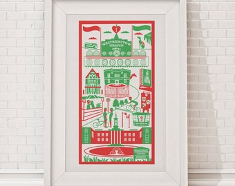 Walthamstow Print / London illustration