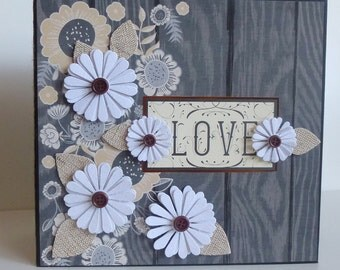 Premade Scrapbook album, Memory book, Photo album, Scrapbooking - LOVE