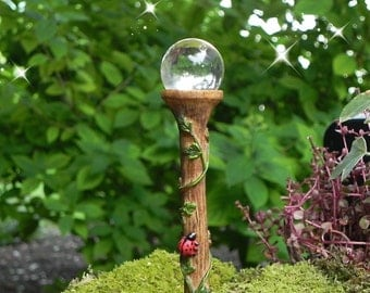 Fairy Garden Accessories, Street Lamp Orb, miniatures accessory, fairy garden supply, glow in the dark glass gazing ball