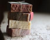Soap Bars, Choose 4 Handmade Soap, Soap Gift Set, Citrus Soap, Woodsy Soap, Earthy Soap