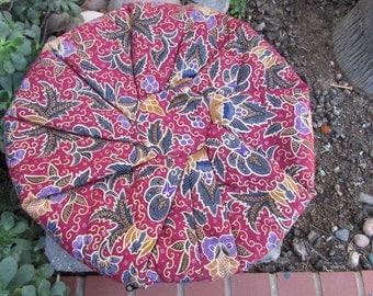 Round Pouf Pillow cover Boho Hippie