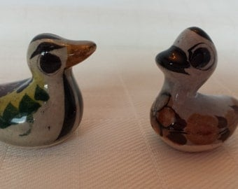 Pair of Miniature Pottery Ducks