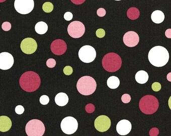 SALE - Spirodots Black Pink Premier Prints Fabric - One Yard -  Home Decor Fabric