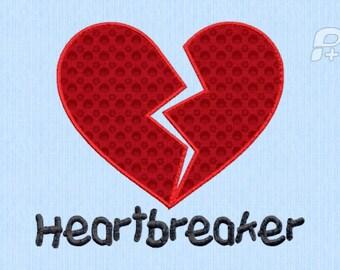 Heartbreaker Valntine's Day Applique INSTANT DOWNLOAD