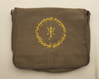 One Ring Embroidered Messenger Bag (Home Embroidered)