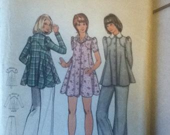 "Butterick Vintage Dress, Tunic & Pants Pattern 3073  Size: 14, Bust 36""."