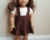 Brown Skirtall for 18 Inch dolls by The Glam Doll