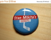 20% OFF summer end sale Stan Mikita's Donuts  //  1.25 inch button (0025)