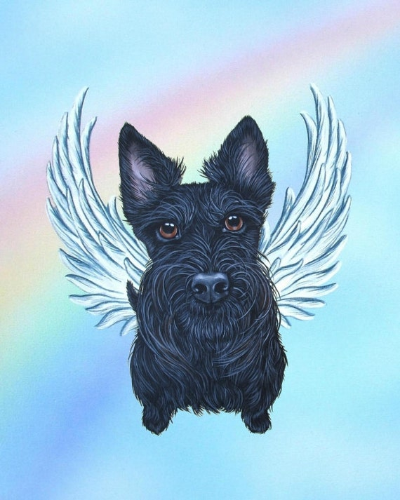 Scottish Terrier Scottie Scottie Angel Scottie By Artbyweeze