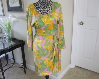 AZUL by LIANCARLO SPRING  Silk Dress Size 10