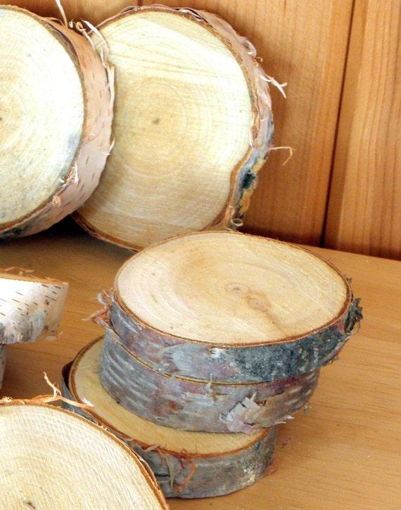 White birch wood slices 2 2 5 diameter by for White birch log crafts