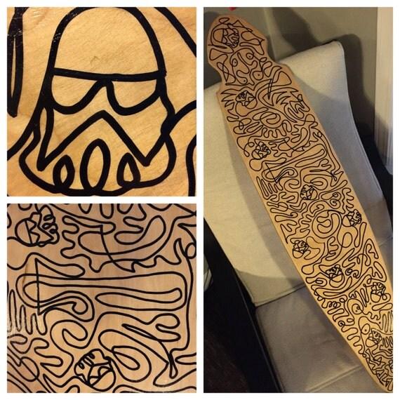 Star Wars Stormtrooper Doodle line longboard