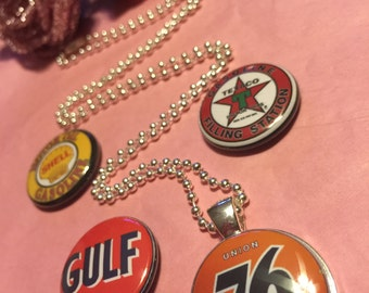 4 Gas Station Magnetic interchangeable Necklace or Bracelet