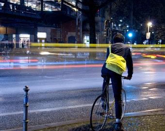 BLINKbag - neon-yellow bicycle bag, Messenger bag