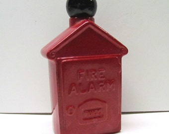 Vintage Avon Fire Alarm Box Decanter Figurine / Bottle, It Is EMPTY - Collectible AVON - Home Decor