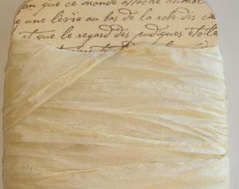 10 Yards  Silk Sari Ribbon ...   Ivory