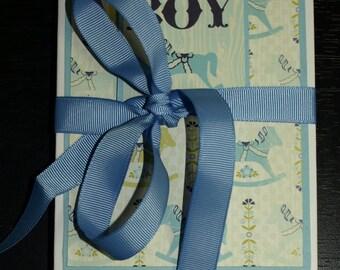Baby Boy Accordion Photo Book - Authentique- Cuddle- Baby