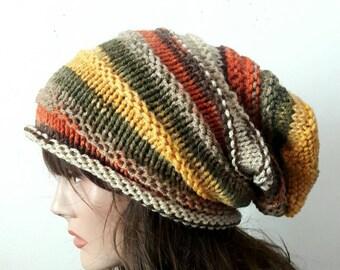 Slouchy Beanie Baggy Hat Men Women Celebrity Hat Dreadlock Hat Rasta Hat Fashion Accessories Knit Winter Hat Gift Ideas