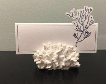 Beautiful Navy Coral Place Card