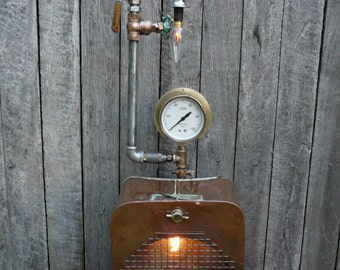 Vintage Industrial Steampunk Copper Slops Light