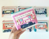 Retro Cassette Zipper Pouch, One of a kind