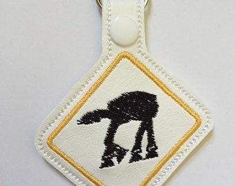 Embroidered AT-AT Star Wars Key Fob