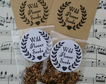 10 packets of British wild flower meadow seeds for favours/favors