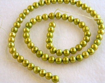 Cultured Freshwater Pearls, 5mm Olive Cultured Freshwater Pearls, Olive Green Pearls