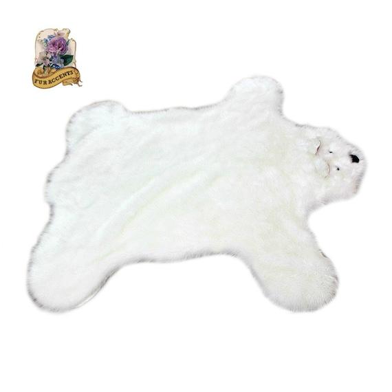 Plush Faux Fur Shag Rug Teddy Bear Pelt Rug / Baby By